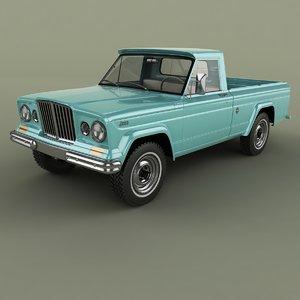 1962 jeep gladiator townside 3D model