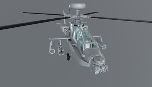 3D attack helicopter