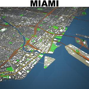 miami cityscape model