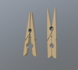 3D wood metal model