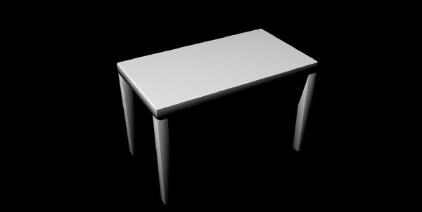 3D simple table untextured model