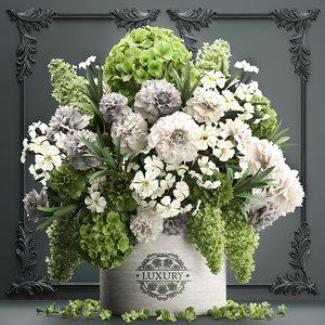bouquet flowers gift box 3D
