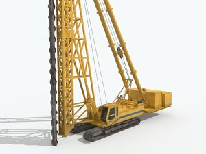 3D spiral drilling machine model