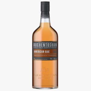 auchentoshan american oak bottle 3D model