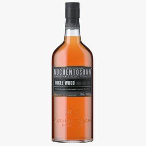 auchentoshan wood bottle 3D model