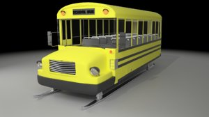 3D school bus surfer model