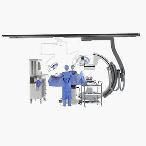 surgeon workplace 3D model