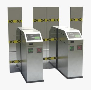 3D subway gate model