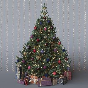 merry christmas tree model