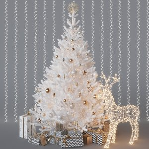 3D model merry christmas tree