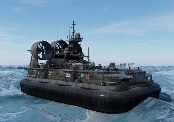 hovercraft land water 3D model