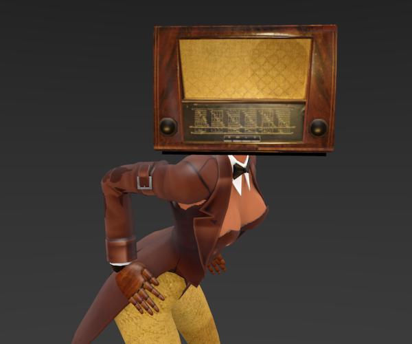 3D head radio old model