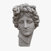 3D model apollo giustiniani head