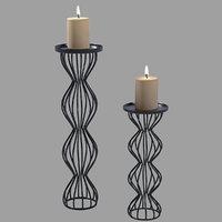modern candlesticks 3D model