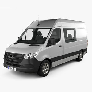 3D model mercedes-benz sprinter crew