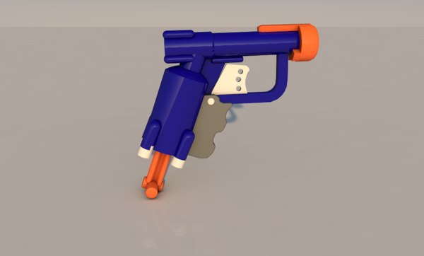 3D toy gun model