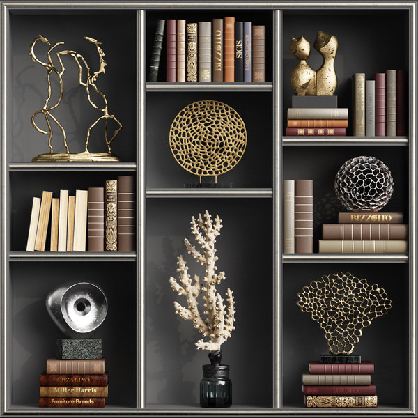 3D decoration sculptures books