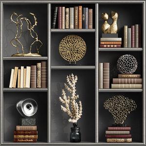 3D decoration sculptures books
