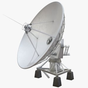 3D vla radio telescope model