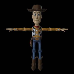 3D rigged woody