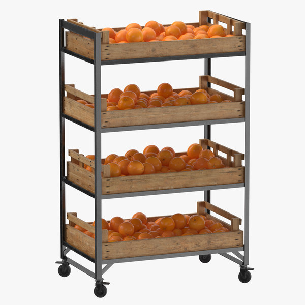 3D retail shelf 02 01 model