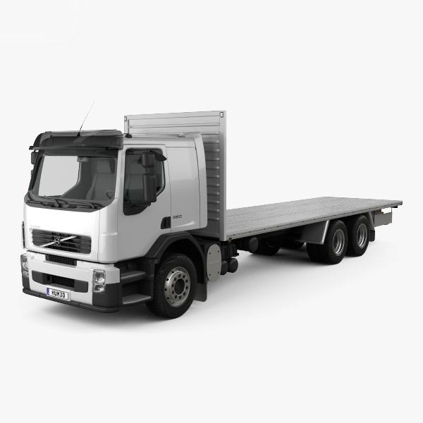 fe flatbed truck 3D model