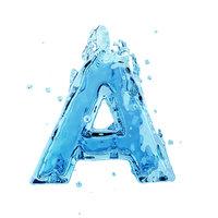 3D liquid letter model