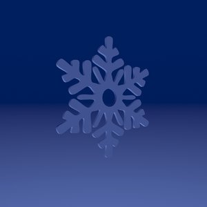 3D snowflakes snow model