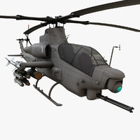 bell viper helicopter 3D model