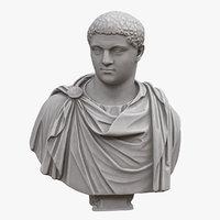 3D emperor geta bust model