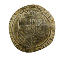 old ancient spanish coin 3D model