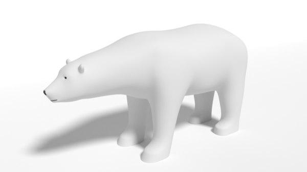 polar bear cartoon 3D