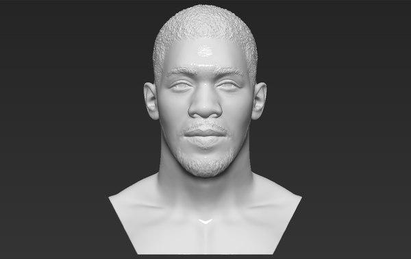 3D model anthony joshua bust ready