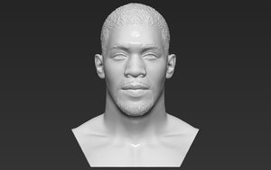 3D model anthony joshua bust ready