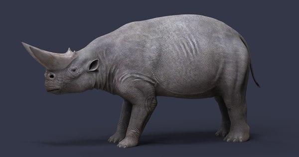 arsinoitherium 3D model