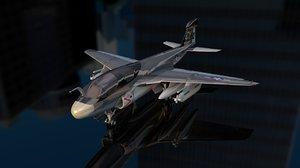 grumman ea 6b prowler 3D model