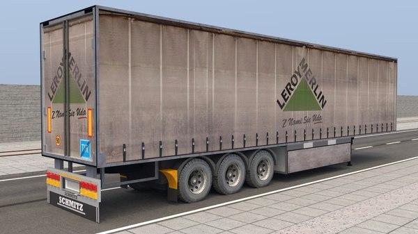 3D trailer leroy merlin model