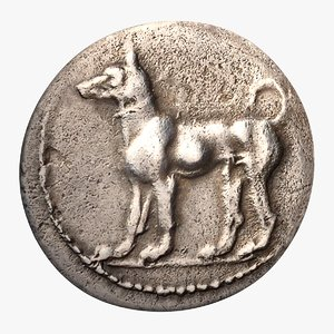 3D ancient greek didrachm sicily