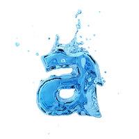 liquid letter 3D model