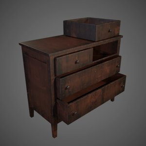 3D drawer chest
