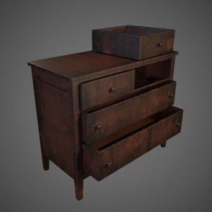 3D drawer chest