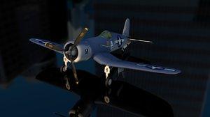 vought f4u corsair fighter aircraft 3D