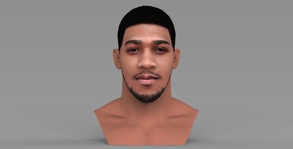 anthony joshua bust ready 3D model