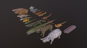 extinct animals 3D model