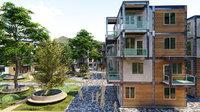 interes social vivienda 3D model