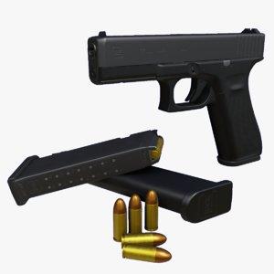 3D glock 17 9mm gun