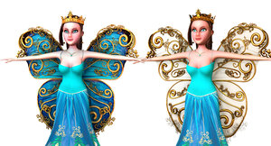 3D fairy model