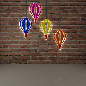 colorful balloons 3D