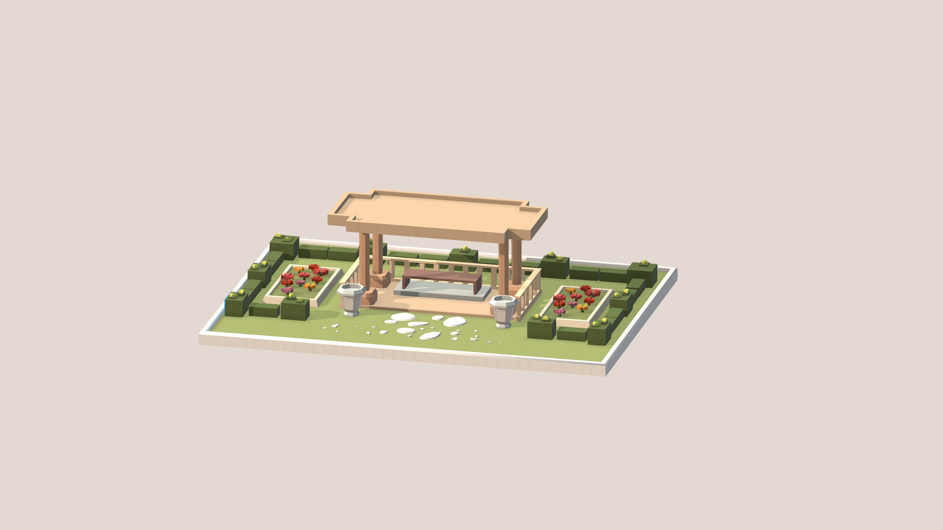 ethnic buildings 3D model