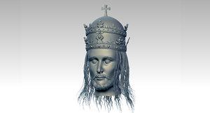 3D model jesus head
